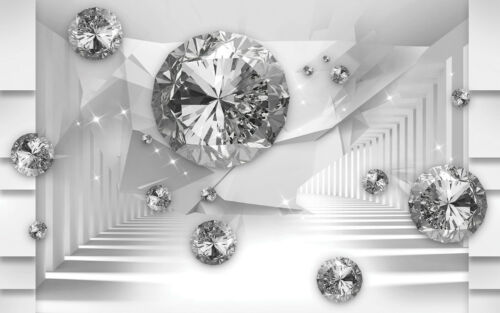 2103V -3D Diamanten Luxus Schmuck Kugeln Perle VLIES Fototapete-ABSTRAKT DESIGN-