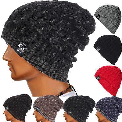 New Fashion Hiver Ski Hommes Femmes Knit Baggy Beanie Souple Chic Chapeau Bonnet Crâne