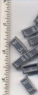 LEGO x 10 Metallic Silver Minifig Utensil Ingot NEW bulk treasure money Bar
