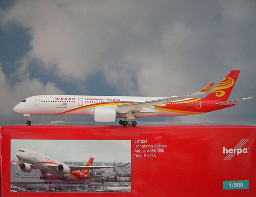 Herpa Wings1:500 Airbus A350-900 Hongkong Airlines B-LGA 531221 Modellairport500