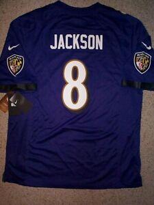 100-NIKE-Baltimore-Ravens-LAMAR-JACKSON-nfl-Jersey-Adult-MENS-MEN-039-S-xl