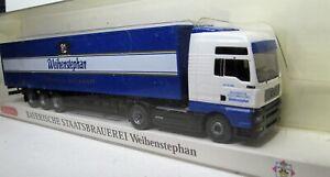 Wiking-1-87-Man-tga-XXL-koffersattelzug-OVP-Weihenstephan-Bay-Staatsbrauerei