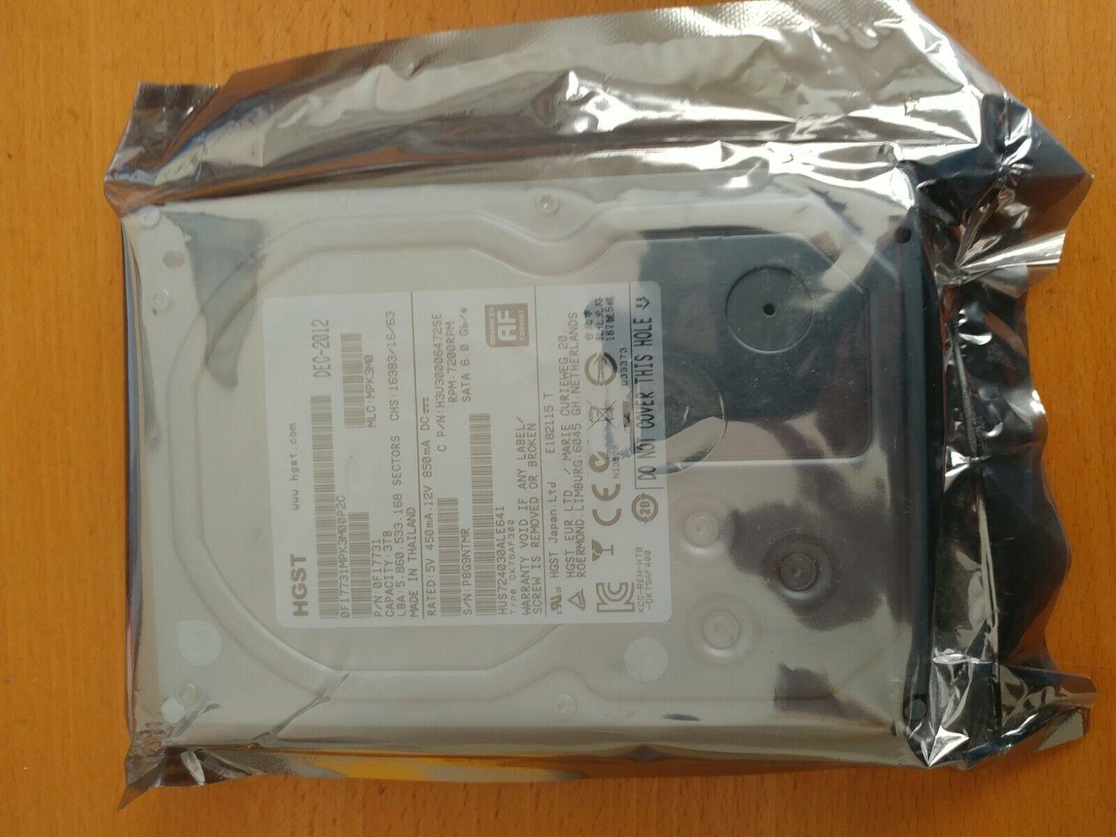 HGST Ultrastar 7K4000 HUS724030ALE641 3TB 64MB Cache 7200RPM SATA III 0F17731