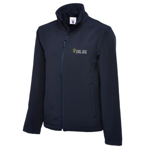 Personalised Embroidered Softshell Jacket ELECTRICAL SERVICES  Workwear UNIFORM