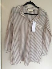 NWT MARNI SZ IT 42 Striped Purple & White Long Sleeve Shirt Dress Tunic