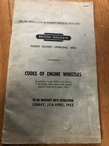British-Railways-North-Eastern-Operating-Area-Codes-of-Engine-Whistles-1952-Book