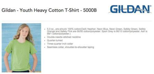 75 Bulk Lot Gildan 5000B Heavy Cotton WHITE Kids Youth Blank Shirts XS S M L XL