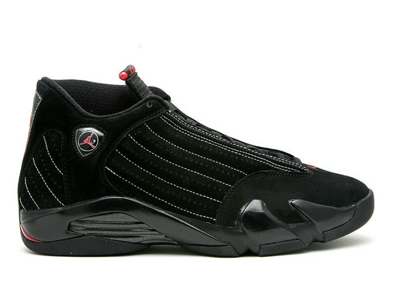 2008 DS Nike Air Jordan 14 XIV size 11.5 Black Red. Collezione 14/9. 318541-992.