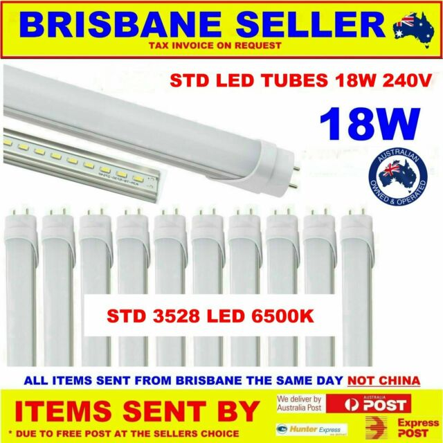 10 x LED T8 FLURO TUBES 3528 LEDS  BRIGHT NOW WITH FREE DELIVERY AUSTRALIA WIDE