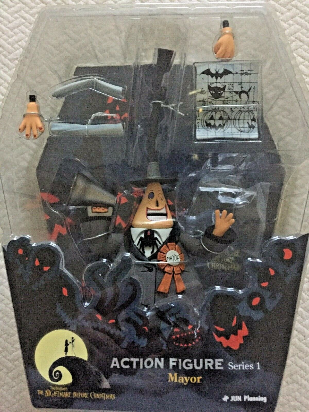 Nightmare Before Christmas Mayor action figure Neuf RARE Comme neuf IN BOX Series 1