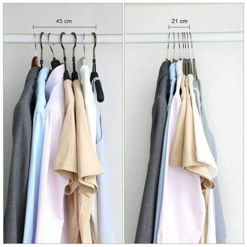 Non Slip Flocked Coat Clothes Hangers Velvet Trouser Shirts Hanging Space Saving