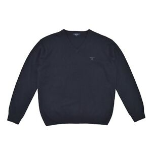 Gant Pull sueur bleu Pull en 54 de Pull d'agneau tricot Xl Hommes 100laine wZPuTOXki