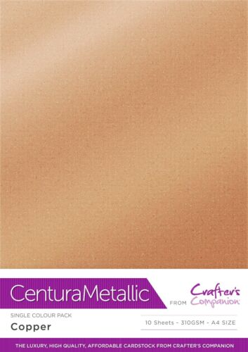 Centura Metallic Single Sided Single Colour 10 Sheet Pack 300GSM FREE UK P/&P