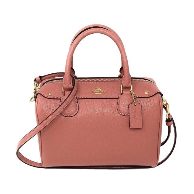 NWT COACH Mini Bennett Shoulder Bag Crossbody Leather Pink Rose Purse Handbag