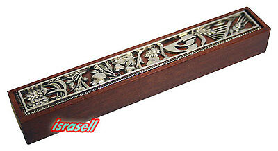 Seven Species of Israel Jewish Mezuzah Case - Door Mezuza - Unique Design