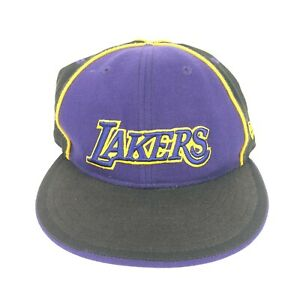 5292c3a4bb7957 New Era 59Fifty Los Angeles Lakers Fitted Hat Black Men's NBA Cap 7 ...