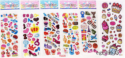 7pcs Hot Puffy Scrapbook Kids Party Favors Craft Stickers Teacher Reward Gift