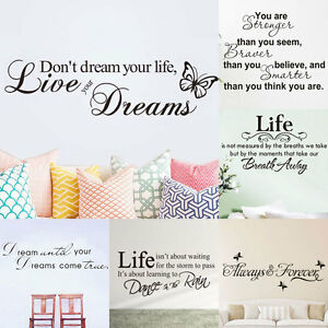Home-Room-Decor-DIY-Art-Vinyl-Wall-Stickers-Bedroom-Removable-Quote-Word-Decal