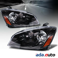 For 2005-2006 Nissan Altima Sedan (S/SE/SL Models) Black Headlights Headlamp Set