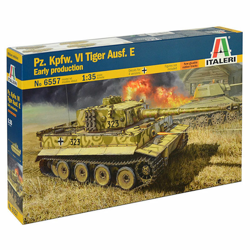 Italeri pz. kpfw. VI Tiger Version E Early Production Tank 1 3 5 Set 6557