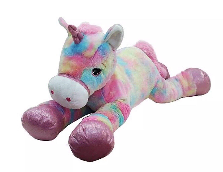 120cm Giant Unicorn Multi Colour Soft Toy Plush Kids Boys Girls Christmas Gift S
