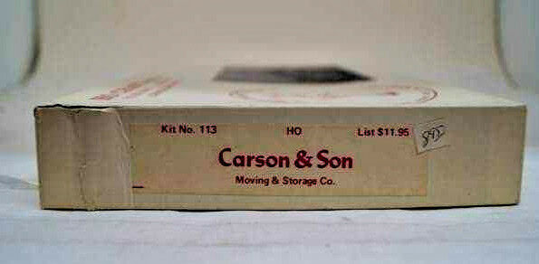 Ho Craft MUNDO, Kit Carson & son el movimiento y almacenamiento Co.