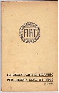 storico-camion-FIAT-auto-manuale-catalogo-parti-di-ricambio-chassis-mod-514L