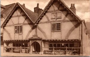 Vintage-Postcard-Old-Cheesehill-Rectory-Oldest-House-Winchester-Unposted