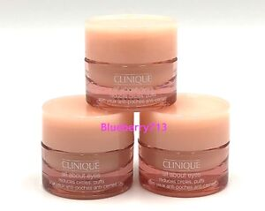 Lot-of-3-Clinique-All-About-Eyes-Reduces-Puffs-Circle-7ml-3-21-ml-63oz-Total