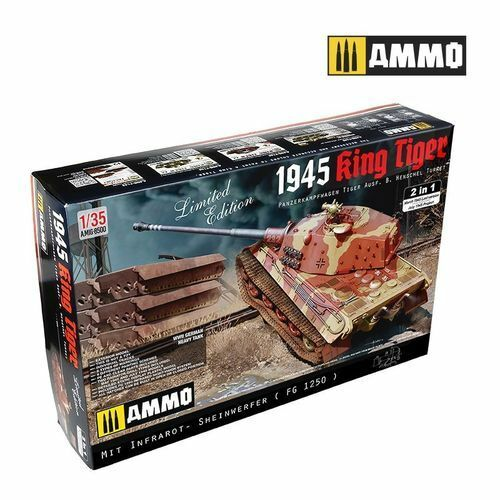 AMMO OF MIG PZ.KPFW.1945 KING TIGER AUSF.B HENSCHEL  TURRET AMIG8500  promotions d'équipe