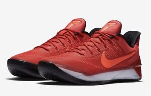 low priced a794d 39bfc Image is loading NIKE-Kobe-AD-University-Red-Black-Basketball-Shoes-