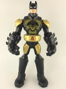 2013-Mattel-10-034-DC-Comics-Batman-Talking-Action-Figure-Black-And-Gold-Armour