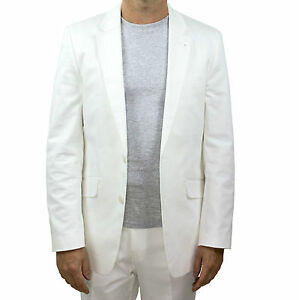 NEW-Marco-Carlotti-Mens-White-Suit-Jacket-Cotton-Top-Quality
