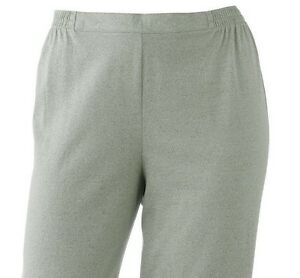 43dff9b04e4 Details about Cathy Daniels Womens Plus Pull-On Solid Sage Green Capris  Pants 1X 2X 3X