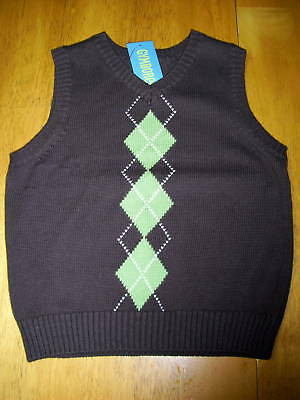 NWT S 5 6 Gymboree SPRING CELEBRATIONS Green Argyle Pattern Sweater Vest
