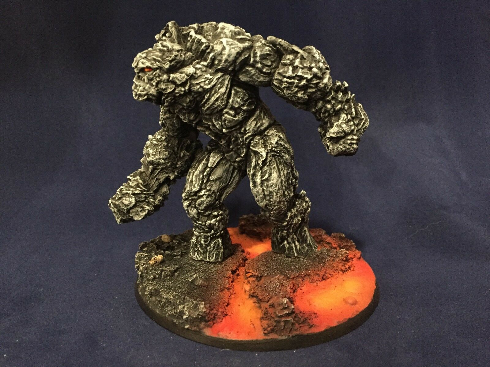 Pintado En Miniatura D&D Pathfinder Magma gigante