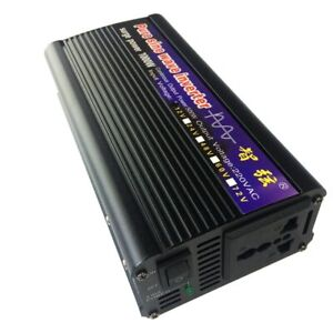 Contemplative 1000 W Reine Sinus Welle Inverter Dc 12 V/24 V Zu Ac220v 50 Hz Off Grid Inverter Strengthening Sinews And Bones Erneuerbare Energie