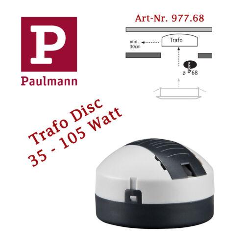 Paulmann 977.68 Transformator elektronisch VDE Disc 35-105 VA Watt rund Trafo
