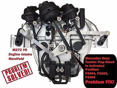 Intake Manifold Air Flap Runner Lever Repair Kit for Mercedes Benz M272 2721402401 V6 M273 273140070164 V8