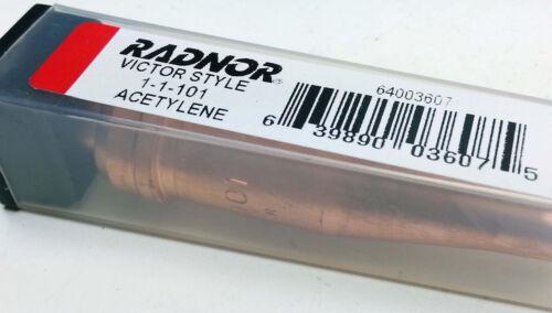 New Radnor Victor Welding Style Acetylene cutting torch tip #0-1-101