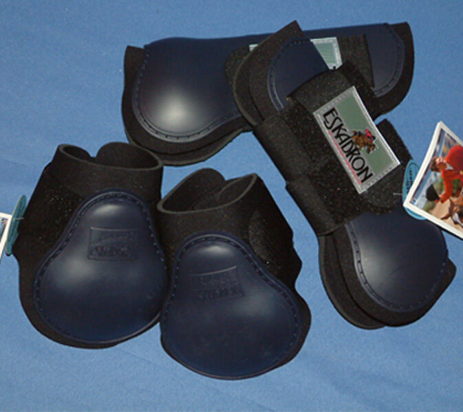 4er Set Eskadron  Protection Stiefel  Colour Navy Größe Pony