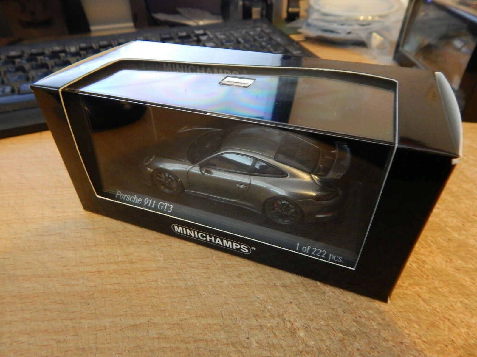 MINICHAMPS 1 43 Porsche 911 GT3 metallic grey 413066033 BOXED L.E 222 pcs