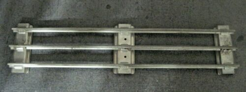 LIONEL IVES MTH 14 INCH STANDARD GAUGE STRAIGHT TRACK PAINTED SILVER