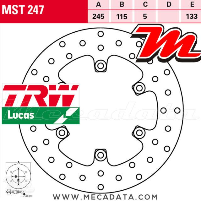 Disque de frein Arrière TRW Lucas MST 247 Yamaha TDM 850 (3VD/4TX) 2001