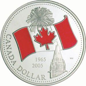 Canada-039-s-Flag-2005-Canada-Limited-Edition-Proof-Silver-Dollar