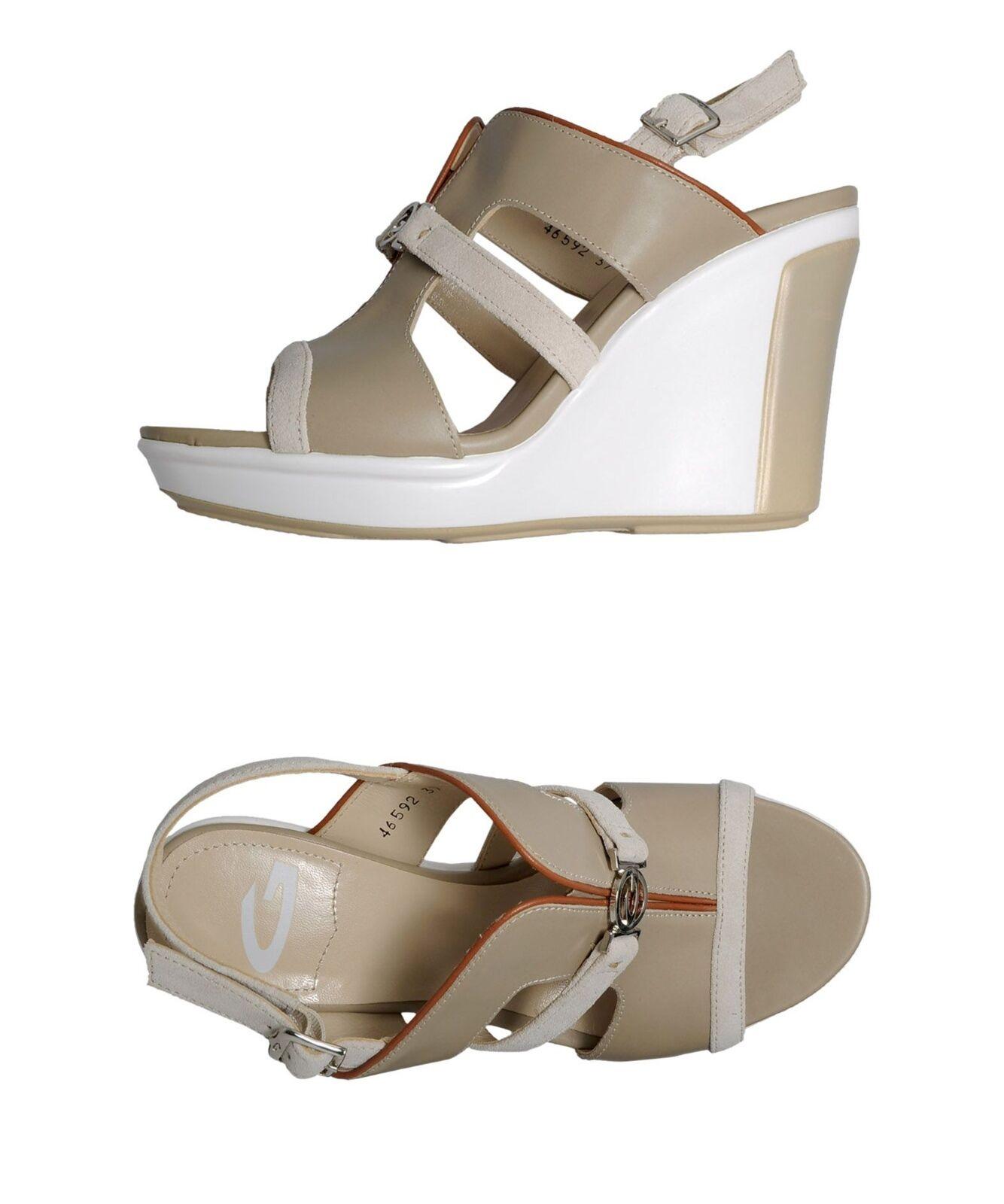 NEW Alberto Guardiani Italia Clio platform wedge leather sandals 8 B 38  295