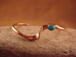 Native-American-Jewelry-Copper-amp-Turquoise-Bracelet-by-Skeets