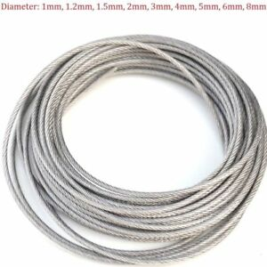 Stainless Steel Wire Rope Cable PVC Plastic Coated 1mm 2mm 3mm 4mm ...
