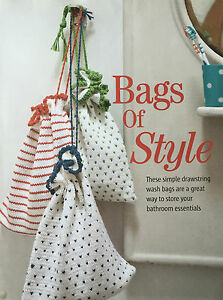 Knitting Pattern Storage Bag : KNITTING PATTERN 3 Drawstring Wash Bags Storage Bag ...