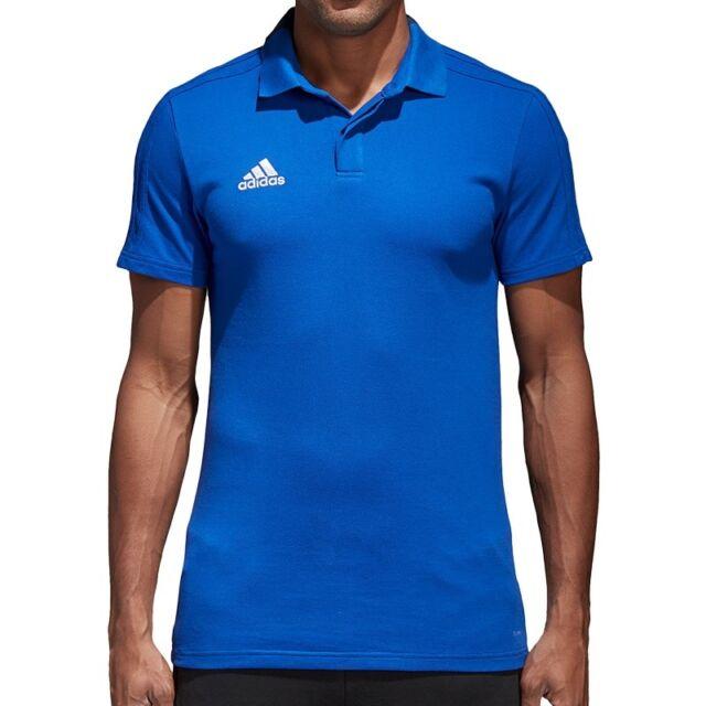 adidas Performance Condivo 18 Cotton Polo blau - Herren Poloshirt Fußball CF4375